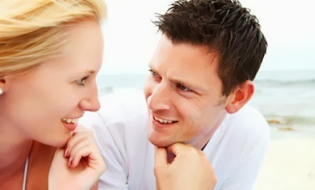 Successful Date? Look at body Language Clues - man woman flirting