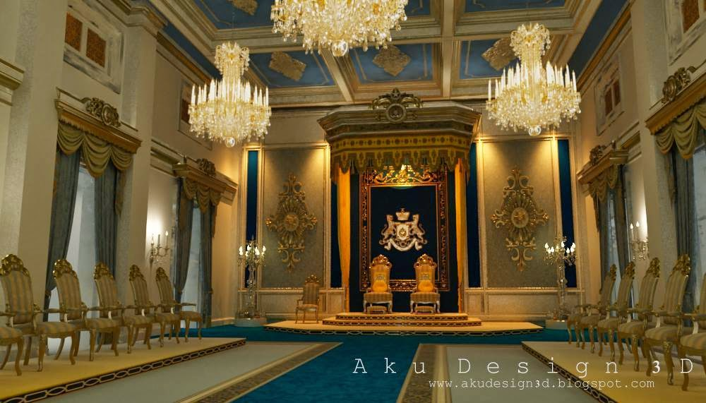 Aku design 3d grand palace of johor bahru throne hall for Grand designs 3d renovation interior