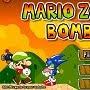 Mario jogando bombas no Sonic no Jogos de Zumbi