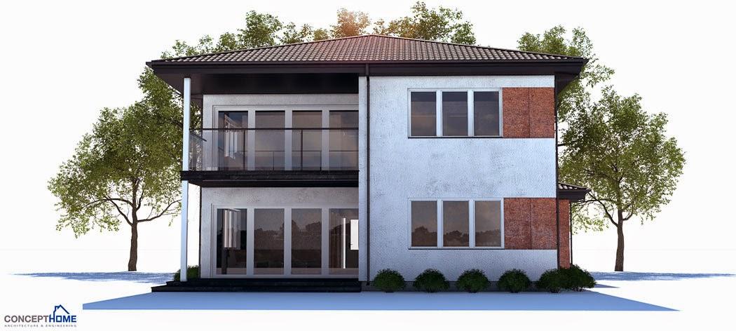 Plantas de casas modernas planta de casa moderna ch178 for Plantas de casas modernas