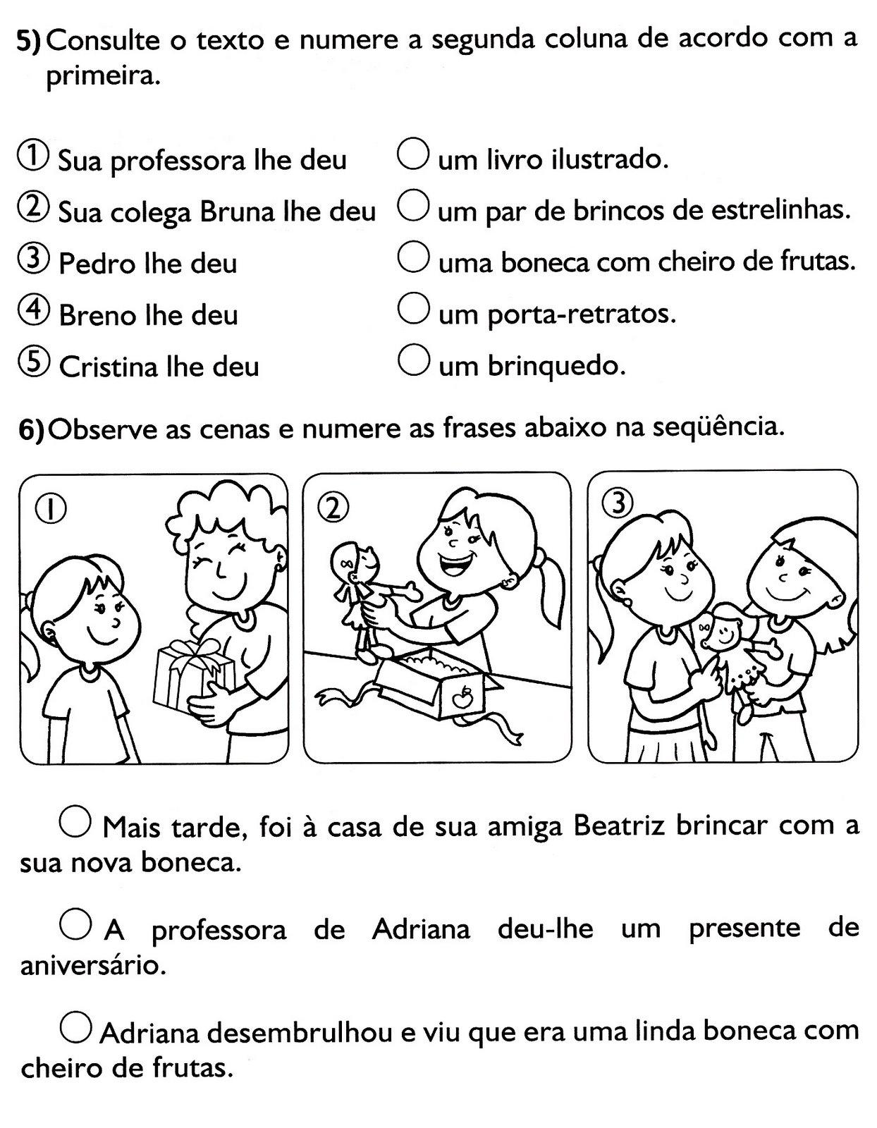 TRABALHAR COM INTERPRETA    O DE TEXTO  ATIVIDADES PARA O 3   ANO