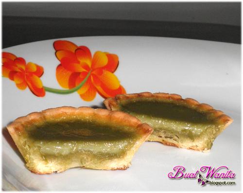 Resepi Mudah Green Tea Egg Tart Telur Teh Hijau - Buat Wanita