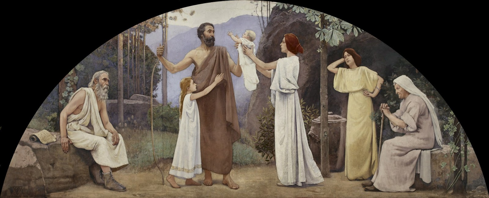 Charles  Sprague  Pearce  mural  library  of  congress  washington  family