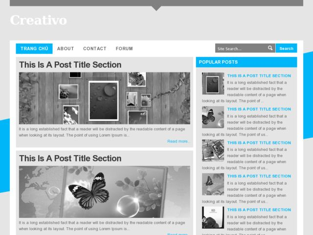Creativo Blogger Template