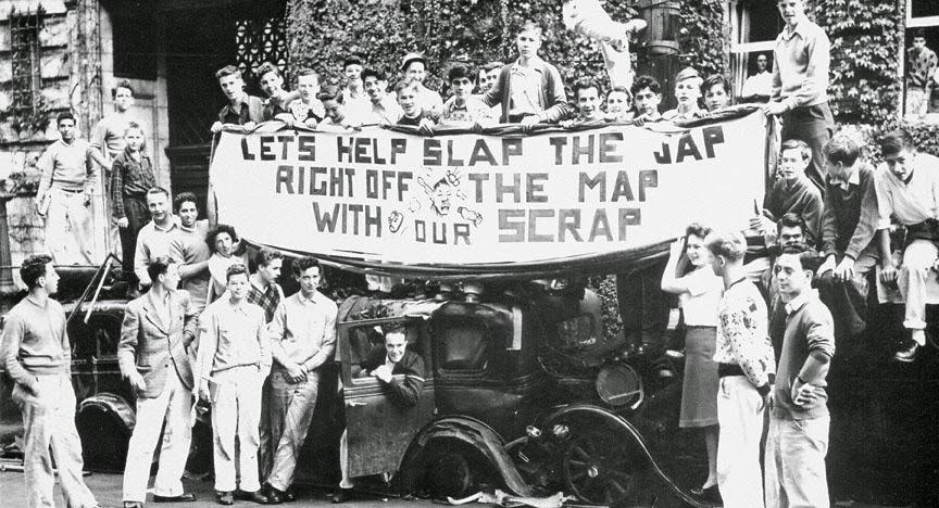 Campaña de recogida de metal en la Segunda Guerra Mundial