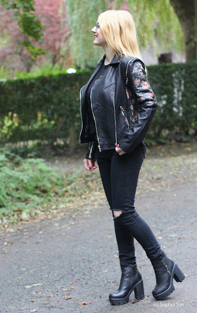 Black with a special leather jacket