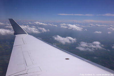 flygplan, moln, vinge, airplane, clouds, bland molnen, among the clouds