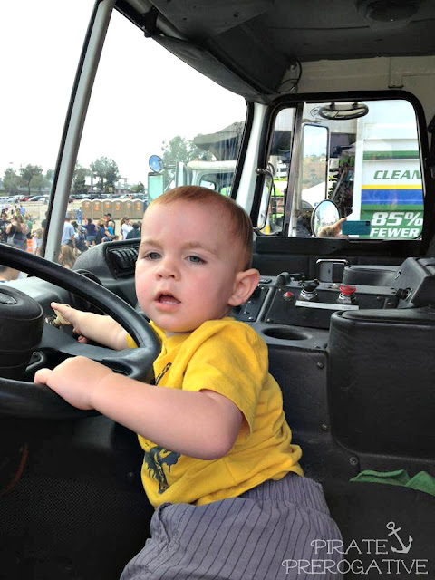 Truck driver toddler
