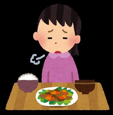 食欲のない女性のイラスト