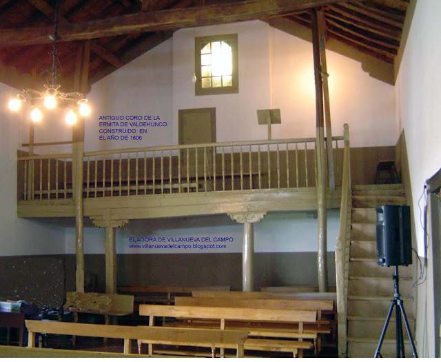 Antiguo Coro de la ermita de Valdehunco año de 1606