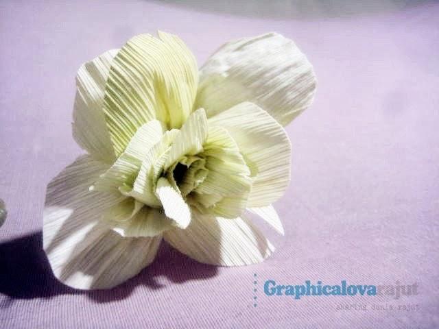 step by step diy bunga klobot jagung bunga bunga dari