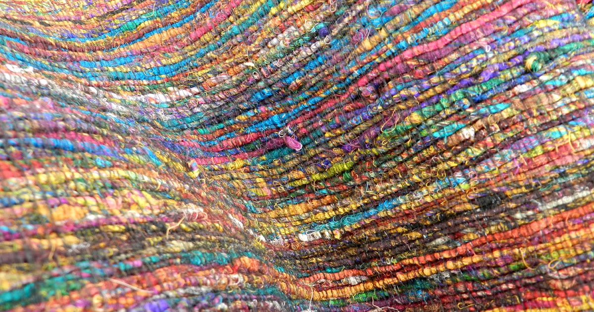 Tulsiram Rugs Recycle Saree Silk Texture