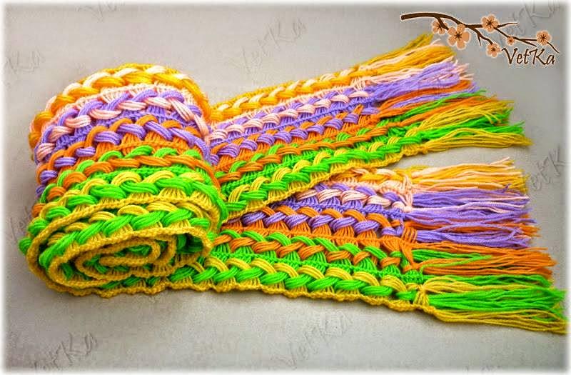 paso a paso tejido bufando