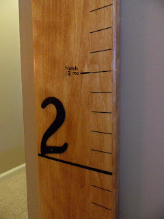 DIY Wood Height Chart