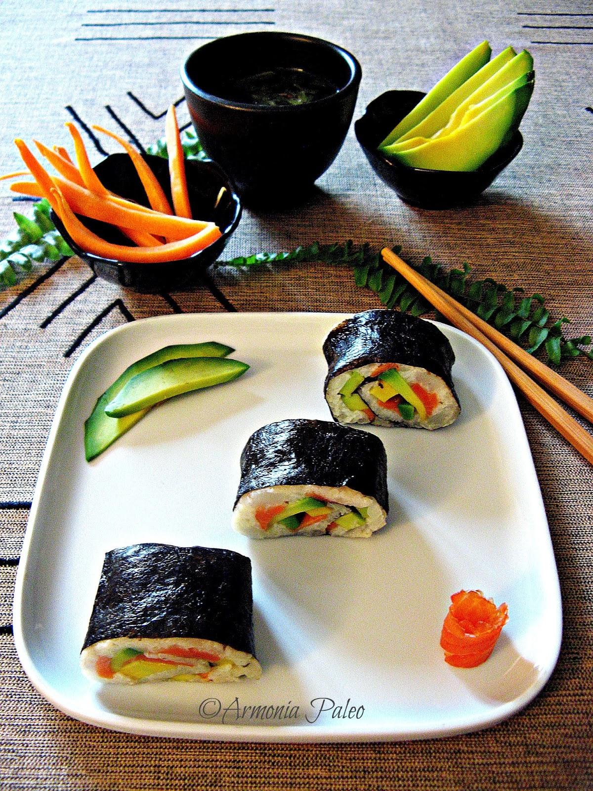 Paleo Maki Sushi di Armonia Paleo