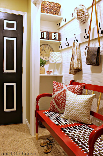 turn a closet to an organized mudroom