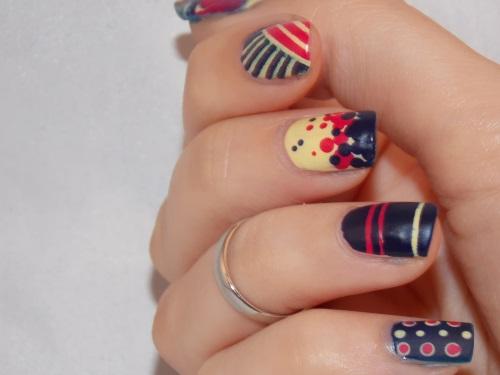 nail art mix match dots stripes butter london blog beauté psychosexy