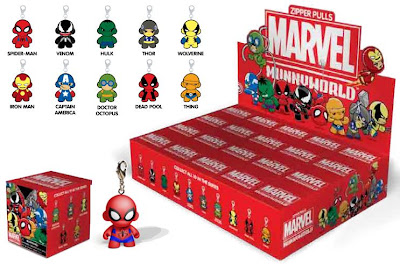 First Look: Marvel Munny Zipper Pulls Series by Kidrobot
