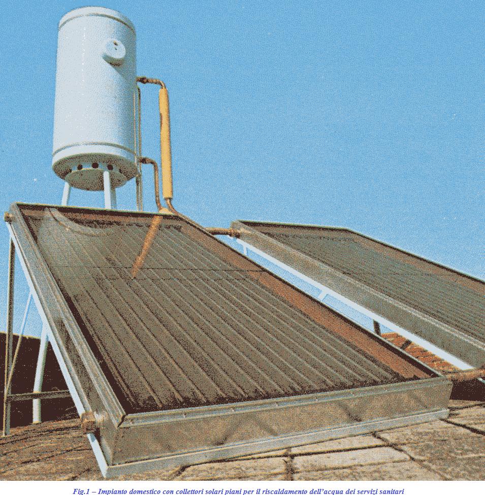 Risorse economia e ambiente solare termico e fotovoltaico for Piani di architetto domestico