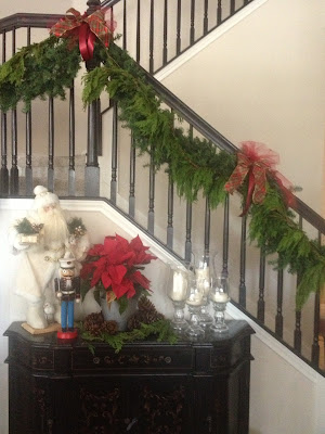 Christmas Garland on Stairs
