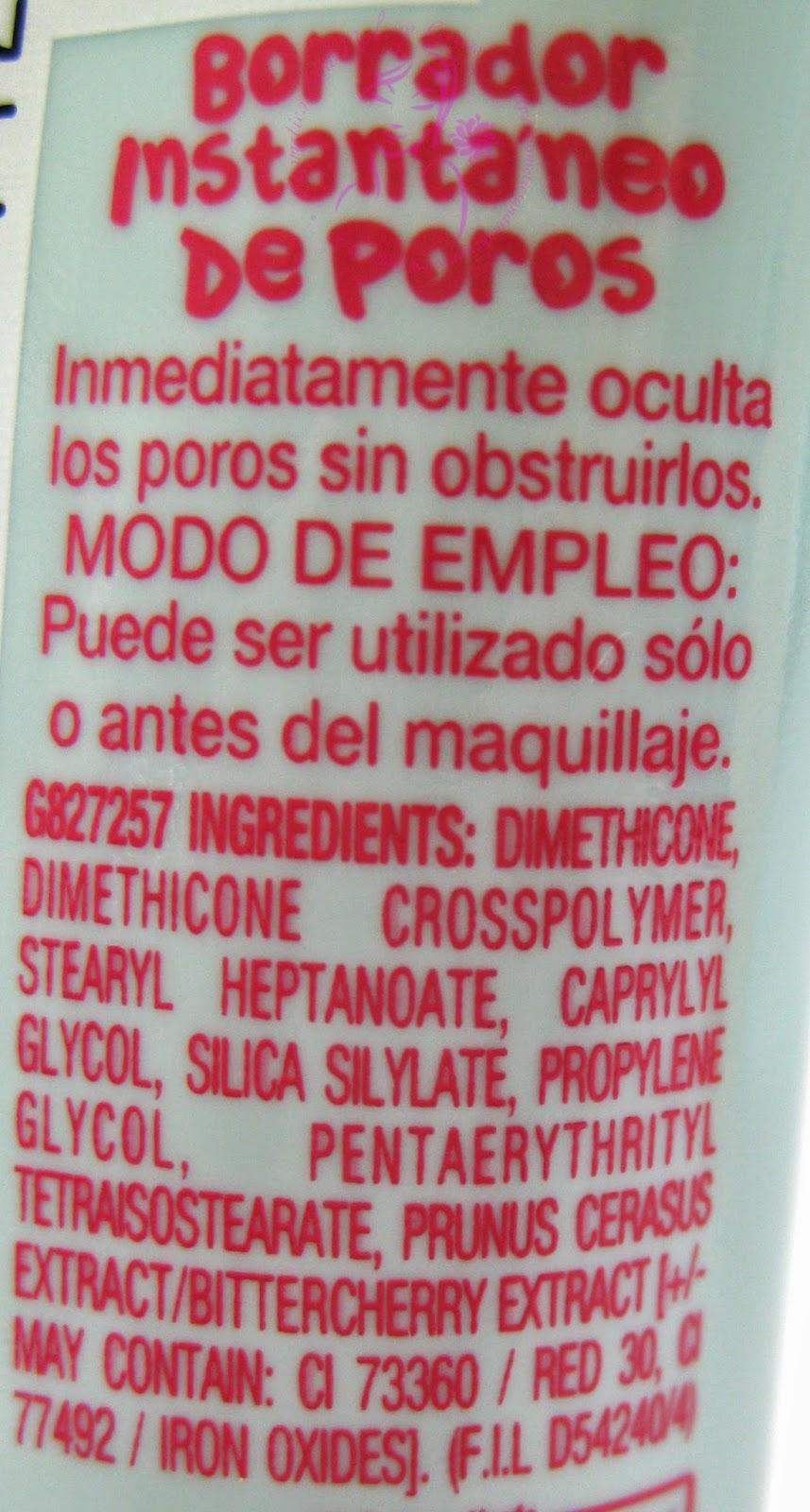 Maybelline - Baby Skin - Il minimizza-pori istantaneo - INCI e modo d'uso