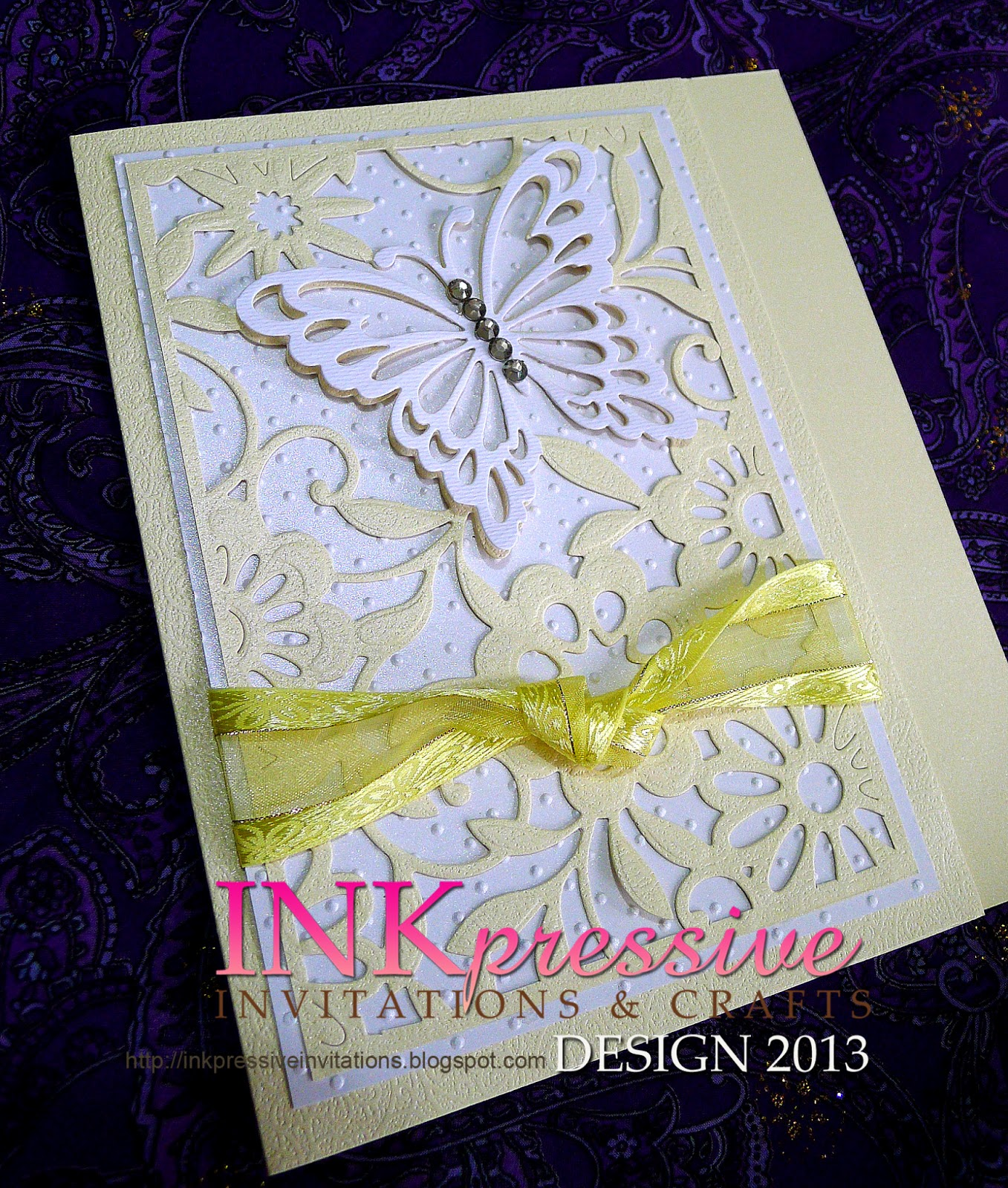 butterfly magic bi fold cards debut invitations