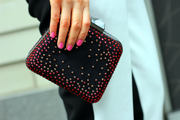 Zara Studded Clutch