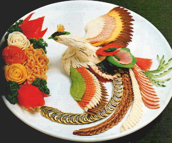 Sushi and vegetables
