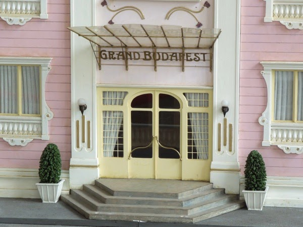 Grand Budapest Hotel movie model entrance