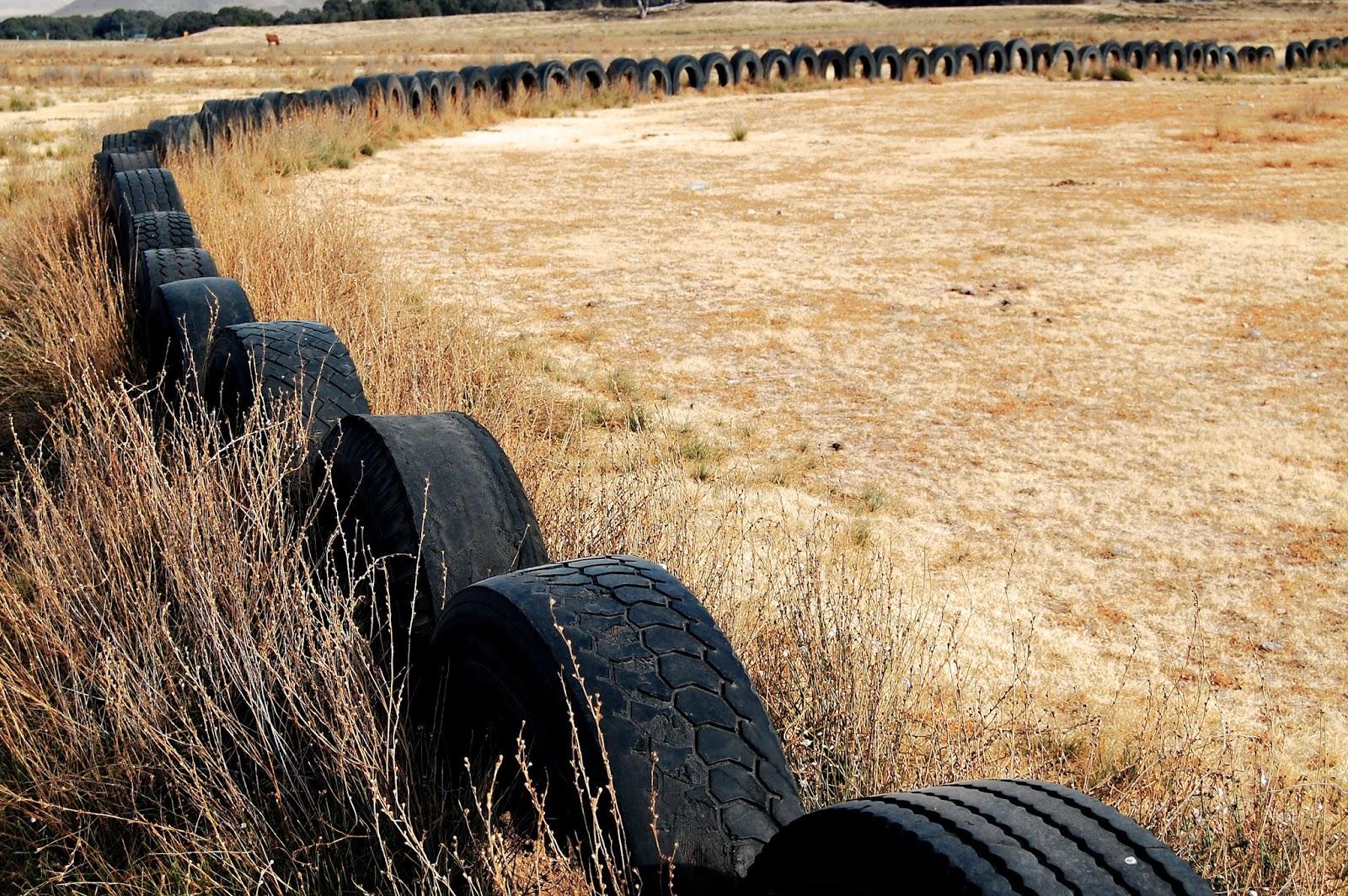 Ein Feld mit einem Ring aus mehreren Reifen
