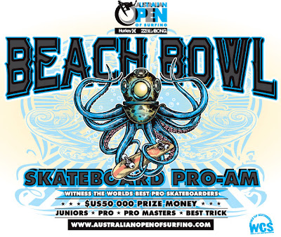 Gold Coast Big Day out, ABC Hurley Australian Bowlriding championship, Wellington Bowl-A-Rama,  Hurley Billabong Manly Beach Bowl contest, Bondi Bowl-A-Rama