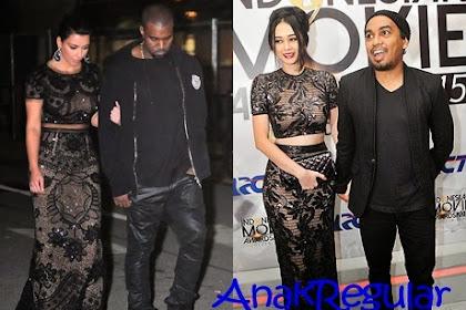 Gaya Busana Aura Kasih yang Meniru Kim Kardashian?