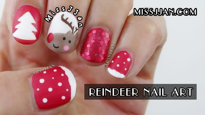 Get Rudolph The Red Nosed Reindeer Nail Art Background