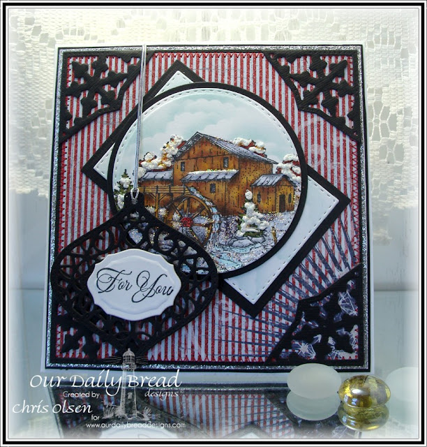 Our Daily Bread Designs, Living Water, Double Stitched Ornaments, Circle Ornament dies, Fancy Ornaments dies, Elegant Ovals dies, Double Stitched Rectangle Dies, Rectangles dies, Patriotic Paper Collection, designed by Chris Olsen