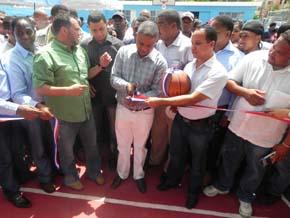 Alcalde inaugura centro deportivo  en Santa Cruz de Villa Mella