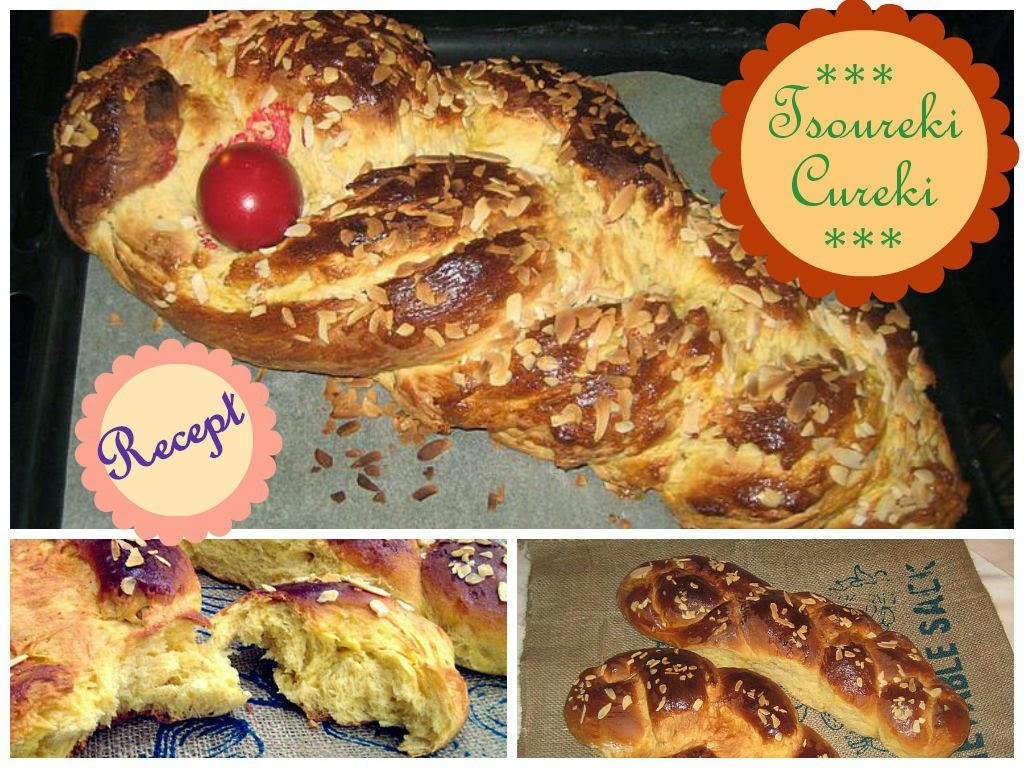 Tradicionalni grcki Uskrsnji hleb kolac Cureki