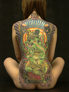 Lord Ganesha Tattoo design on Girls Back