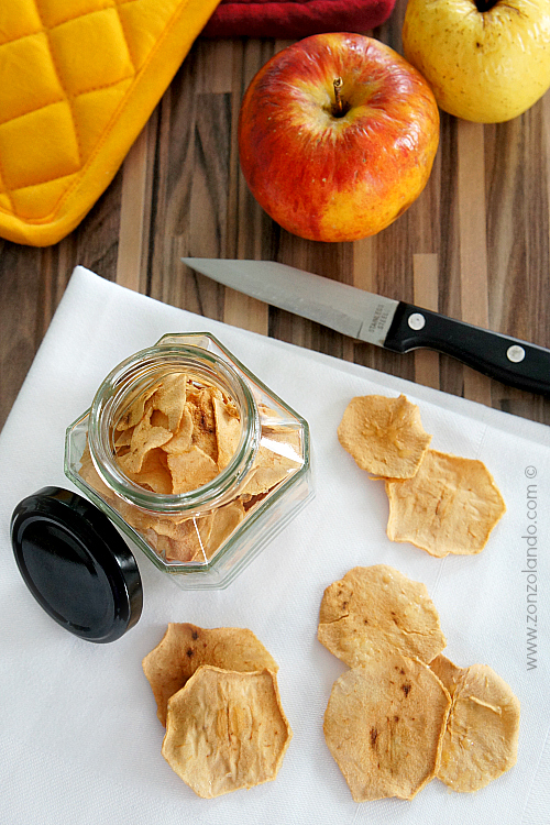Ricetta Mele essiccate o disidratate preparazione in casa homemade recipe dried apples