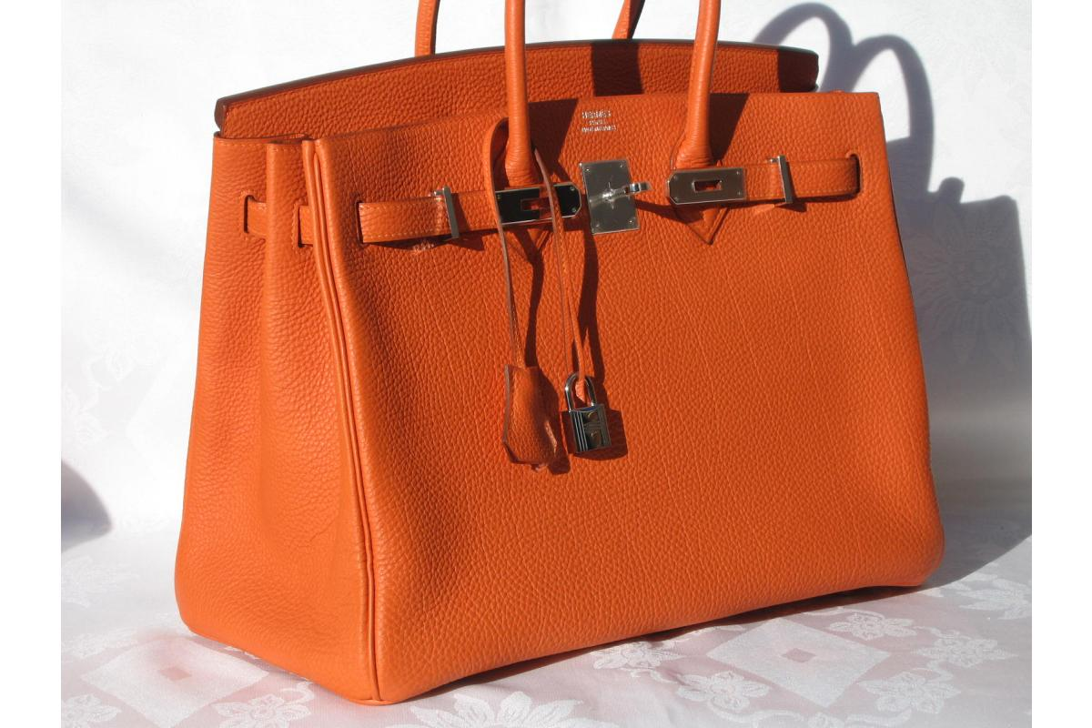 hermes birkin travel bag - GLAMOUR \u0026amp; PEARLS: Orange Herm��s Birkin Bag
