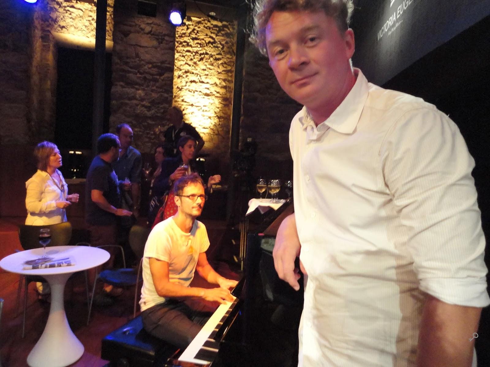 Encuentros Zabaltegui - Pianista (os diría el nombre pero no tengo ni idea) e Ignas Jonynas, director de The Gambler