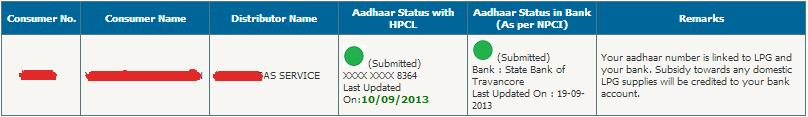 HP Aadhaar Status