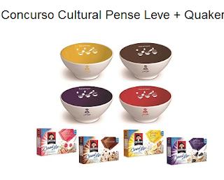 Concurso Cultural Pense Leve + Quaker