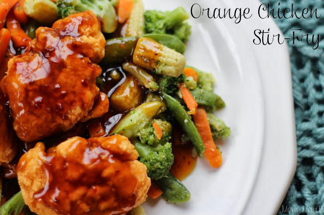 Orange Chicken Stir-Fry Dinner Tutorial #MixNMatchMeals #shop