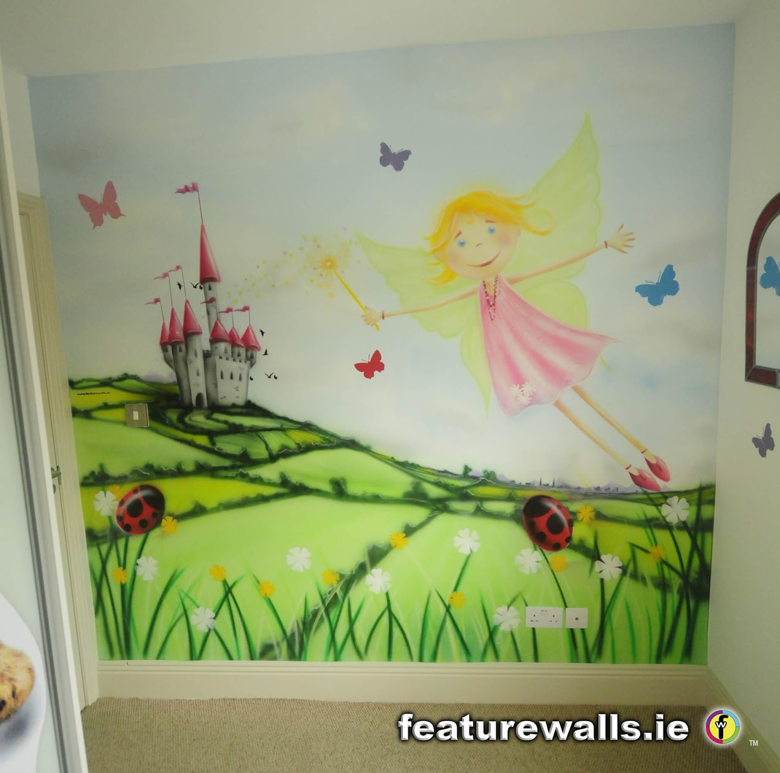 lucky little girl got this hand painted mural recently with the ...
