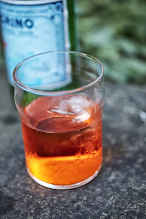 Aperol Spritz with prosecco & a splash of sparkling water