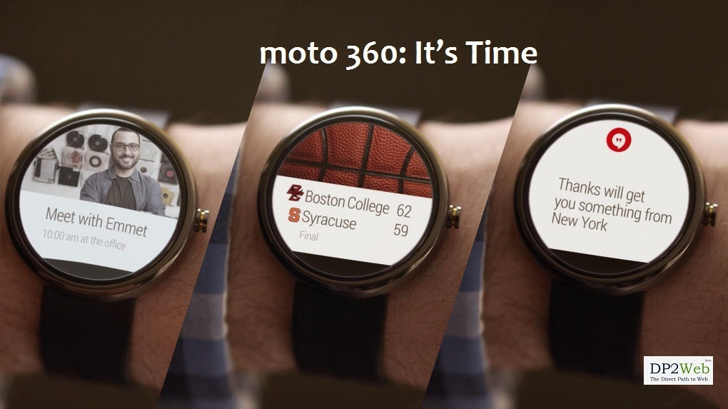 Motorola Announces Moto 360 - Google Android Wear