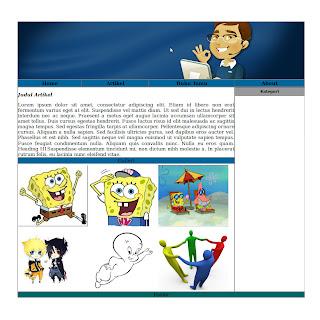 hasil tampilan membuat website dengan HTML bag 2