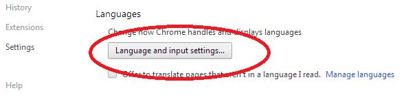 Merubah Bahasa Google Chrome 1