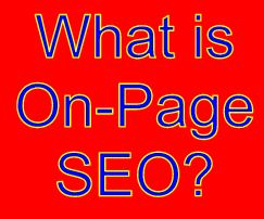 "text graphic reads ""What is on-page SEO?"""