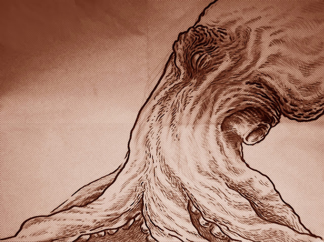 Octopus cephalopod giant octopus comic drawing